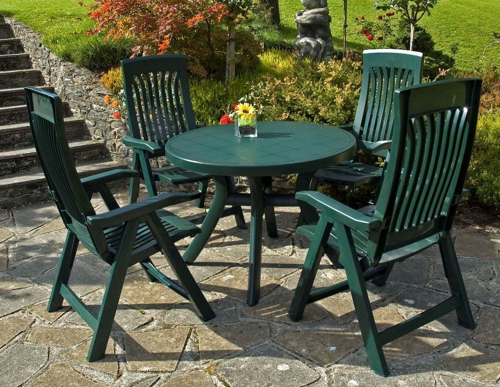 Image of: Resin Patio Table Design
