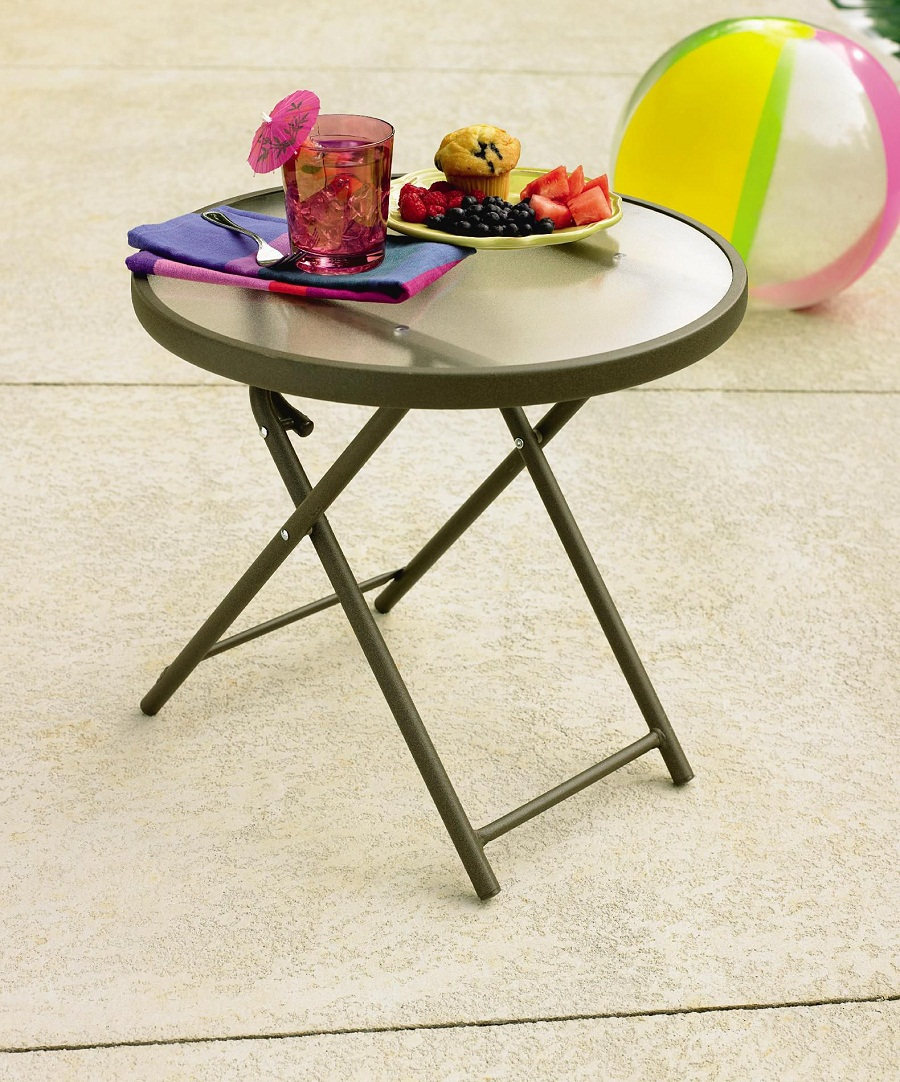 Image of: Round Patio Side Table