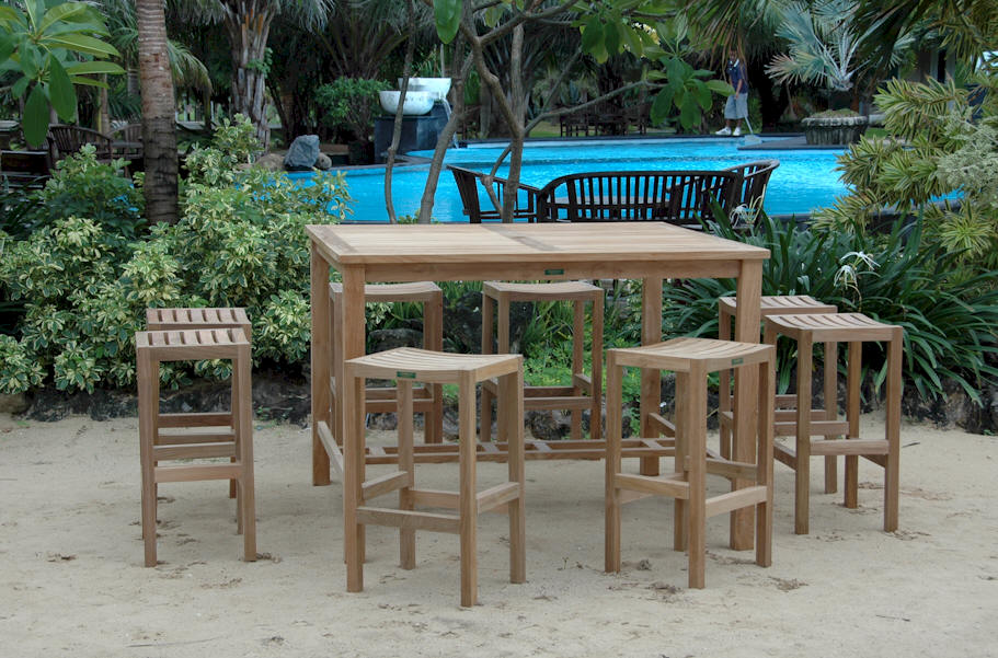 Image of: Simple Bar Height Patio Table