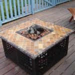Simple Outdoor Firepit Table