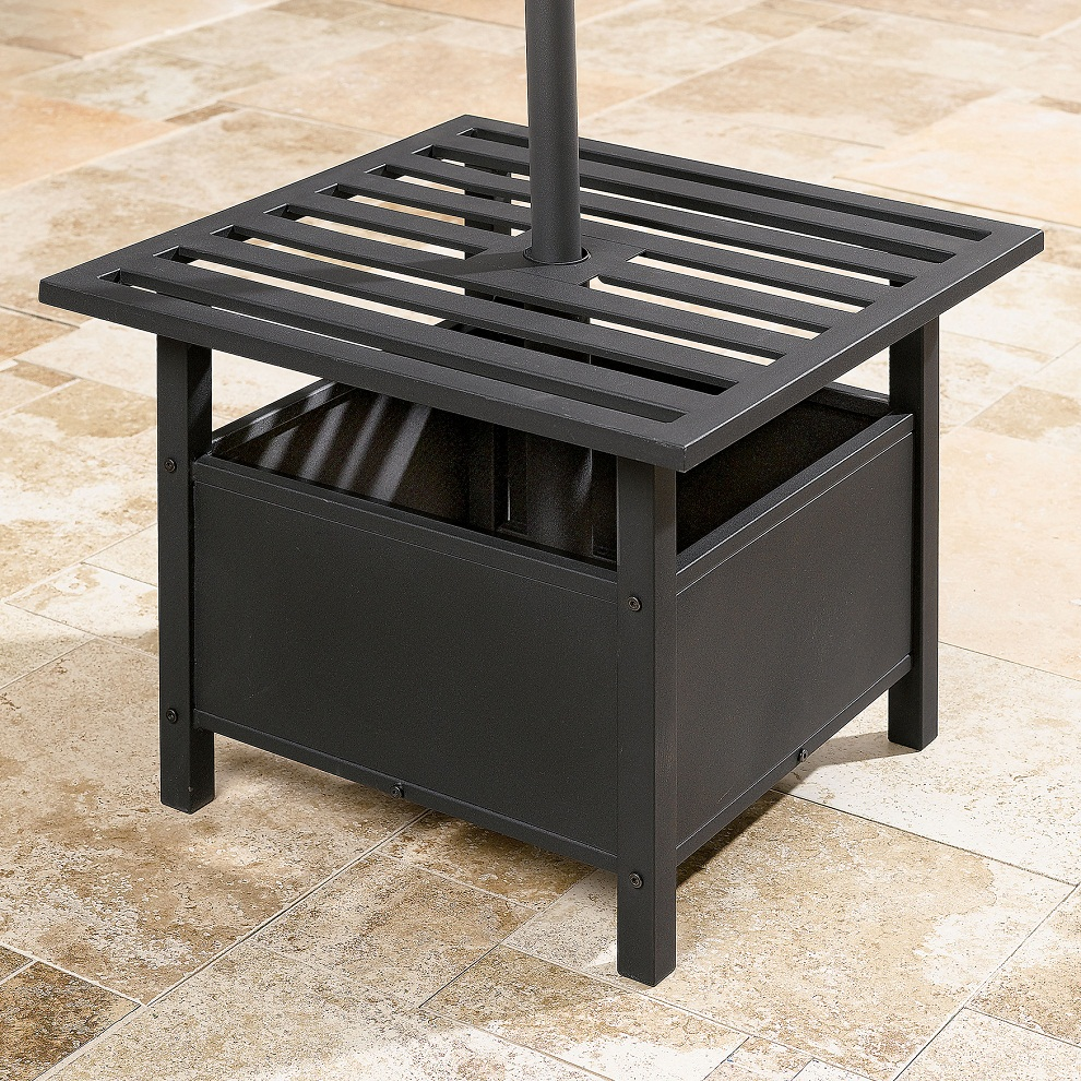 Image of: Square Patio Side Table