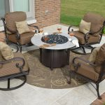 Stylish Patio Furniture With Fire Pit Table