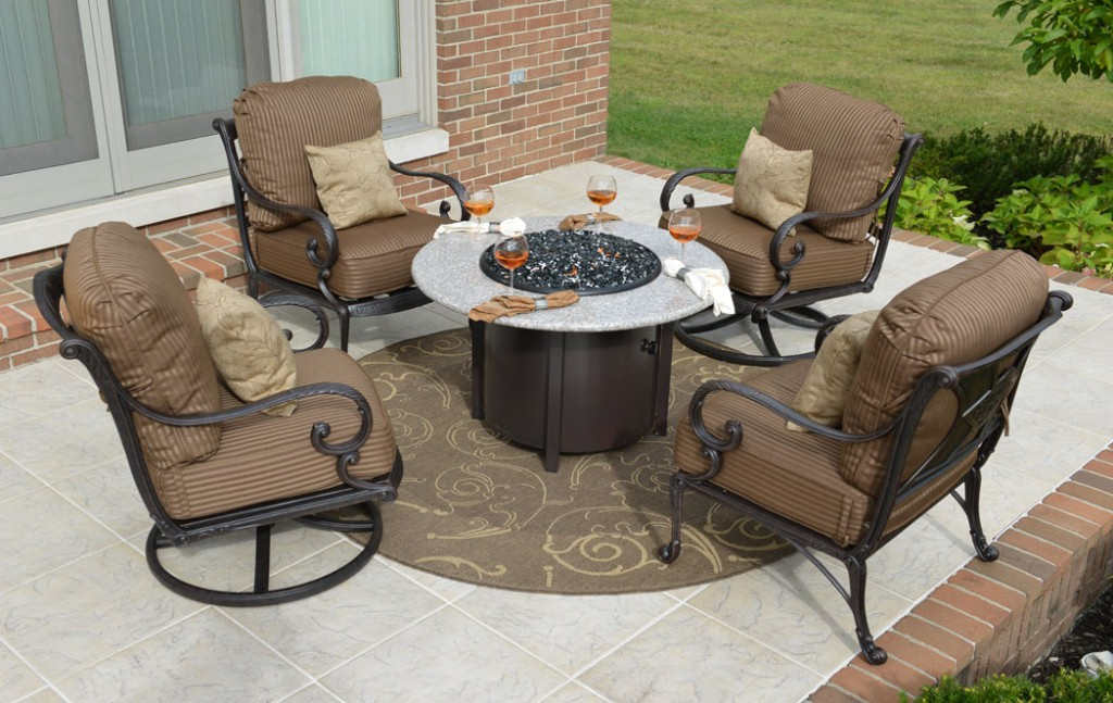 Picture of: Stylish Patio Furniture with Fire Pit Table