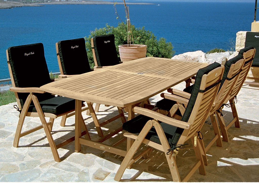 Image of: Teak Patio Table Images