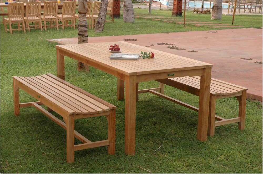 Image of: Teak Patio Table Picture
