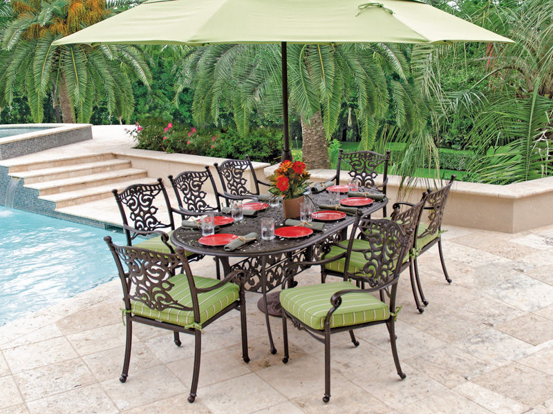 Image of: Top Oval Patio Table Design