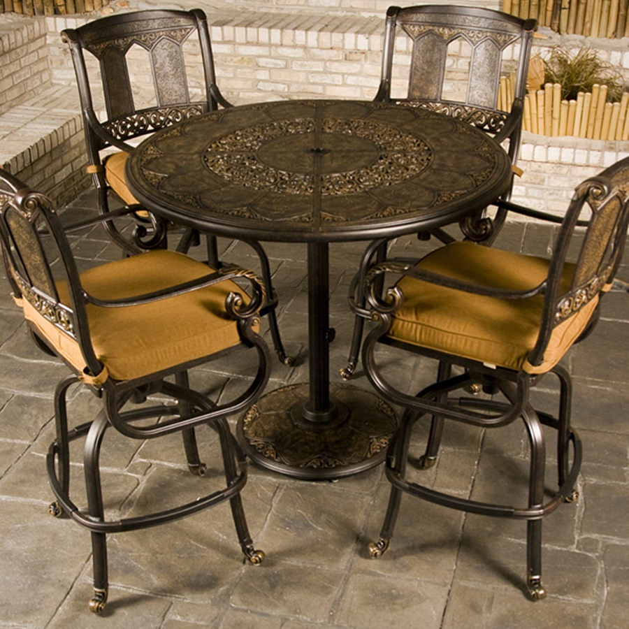 Image of: Top Patio Bar Height Table