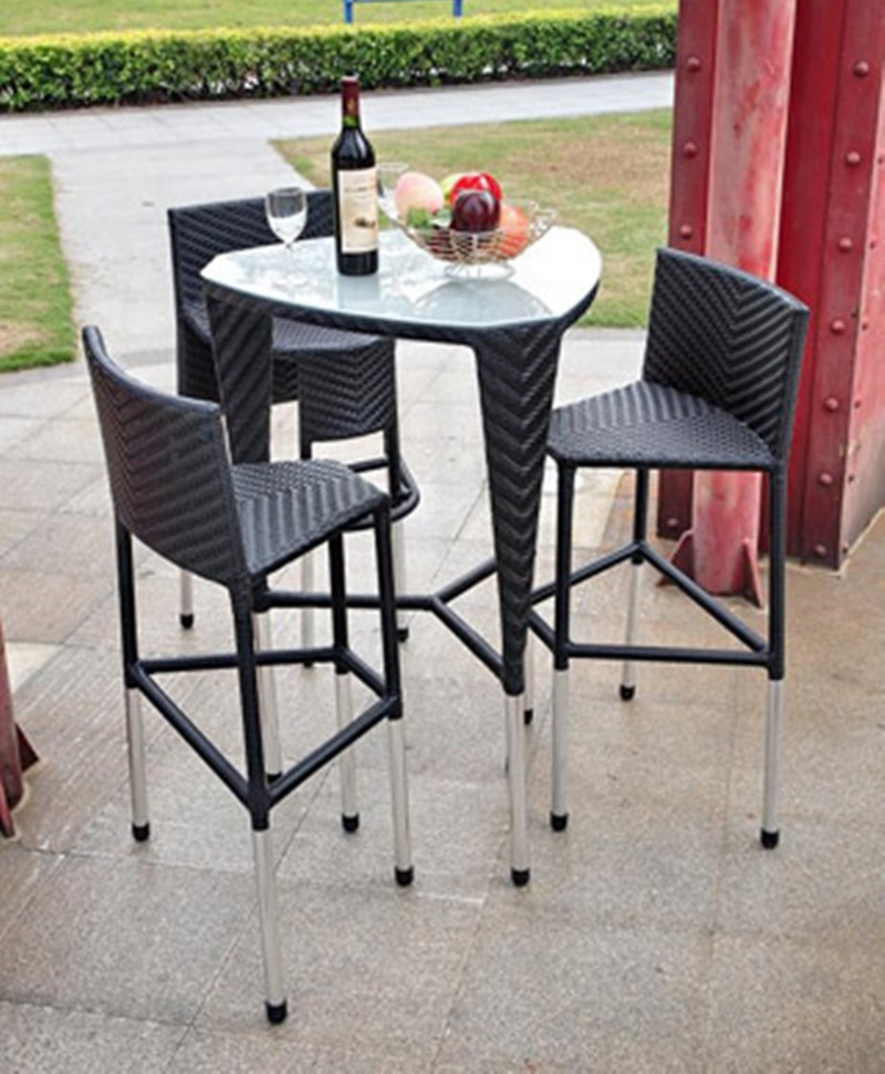 Image of: Unique Patio Bar Height Table