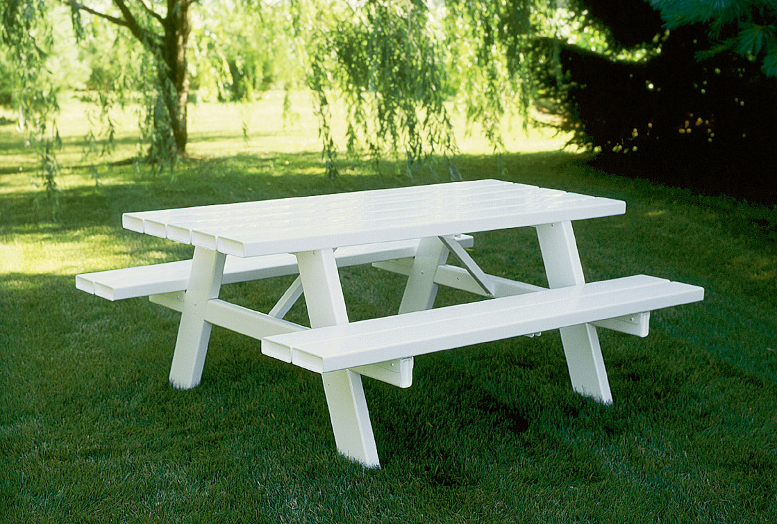 Picture of: White Commercial Picnic Tables