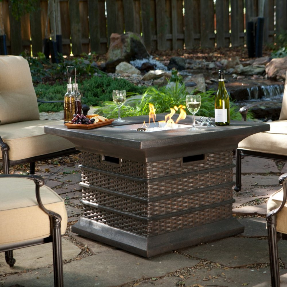 Image of: Wonderful Outdoor Firepit Table