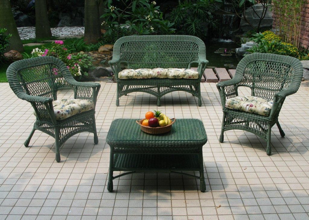 Picture of: Wonderful Resin Patio Table and Chair