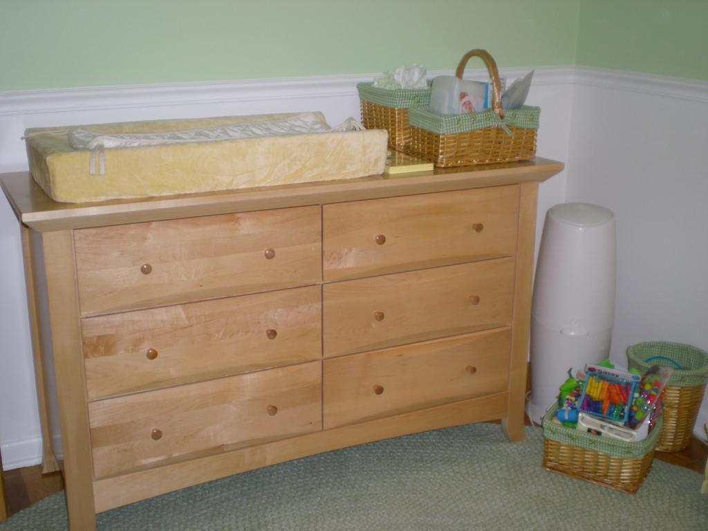 Image of: Wood Baby Dresser Changing Table