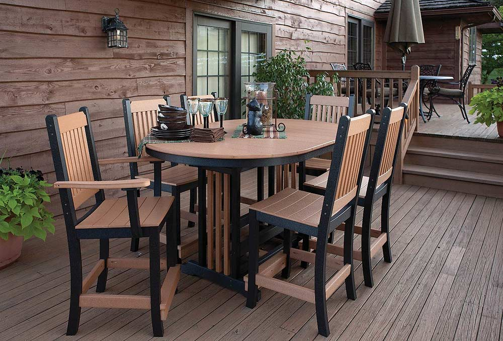 Image of: Wooden Bar Height Patio Table