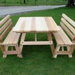 Wooden Commercial Picnic Tables