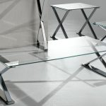 Big Glass And Metal End Tables