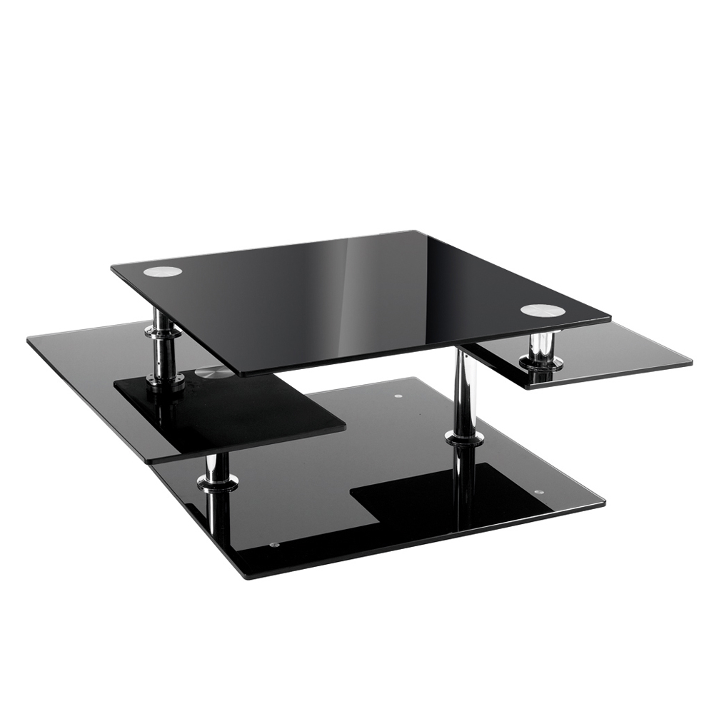 Image of: Black Modern Glass Coffee Table