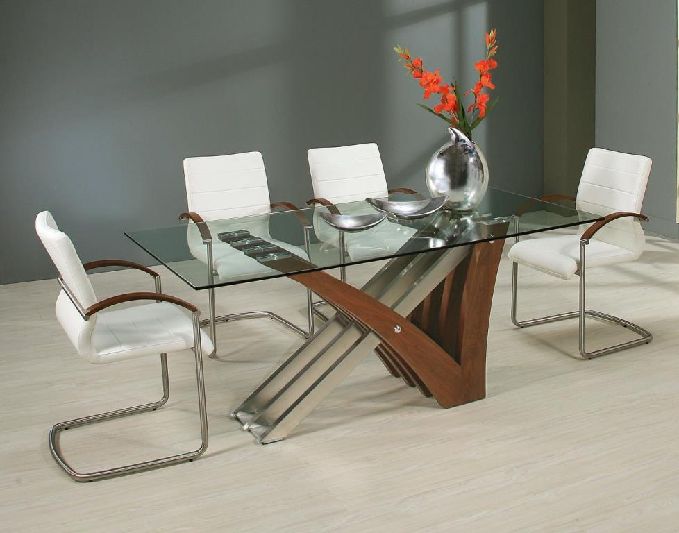 Image of: Clear Glass Rectangular Dining Table