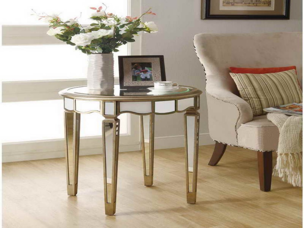 Image of: Coaster Metal and Glass Accent Table