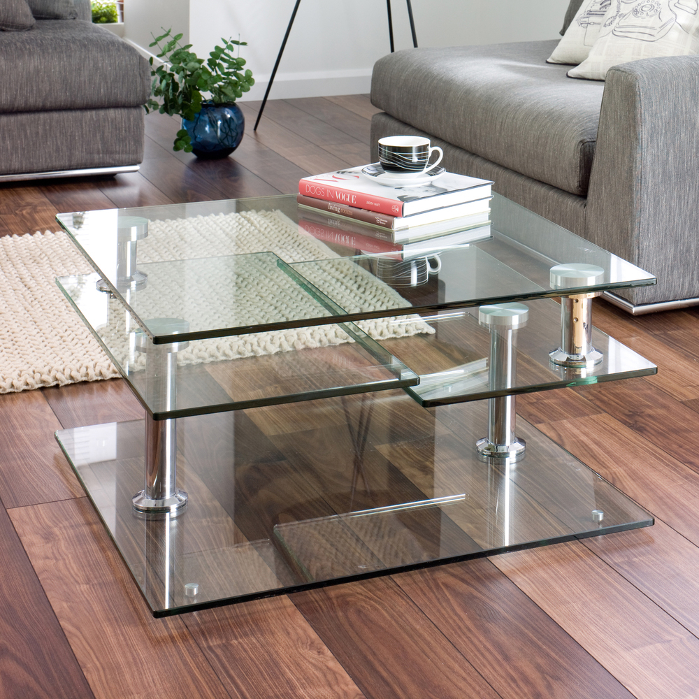 Image of: Contemprary Modern Glass Coffee Table