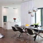 Crystal Glass And Chrome Dining Table