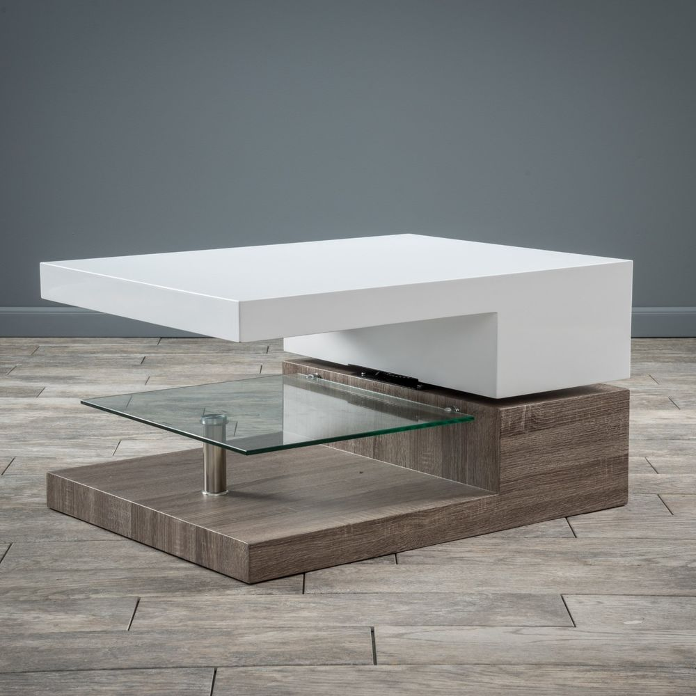 Image of: Design Modern Glass Coffee Table