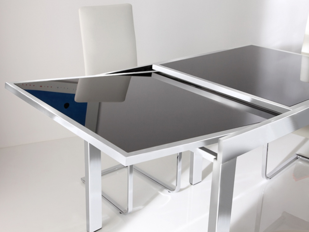 Picture of: Glass Breakfast Table Extendable