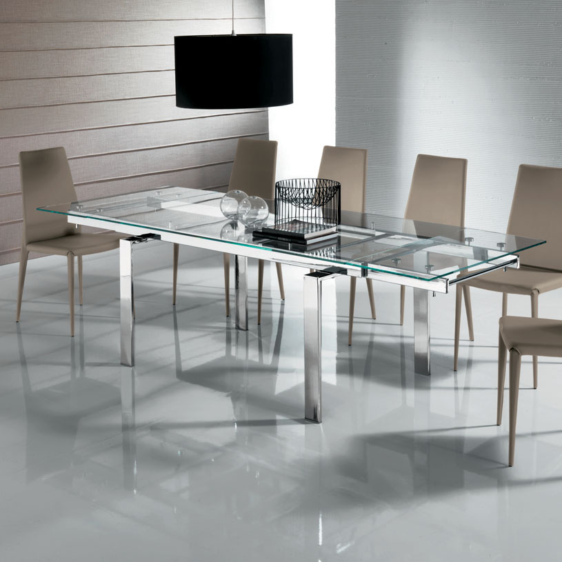 Picture of: Glass Breakfast Table Extending