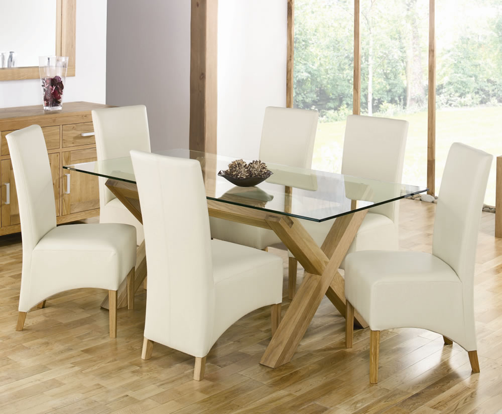 Picture of: Glass Breakfast Table Wood