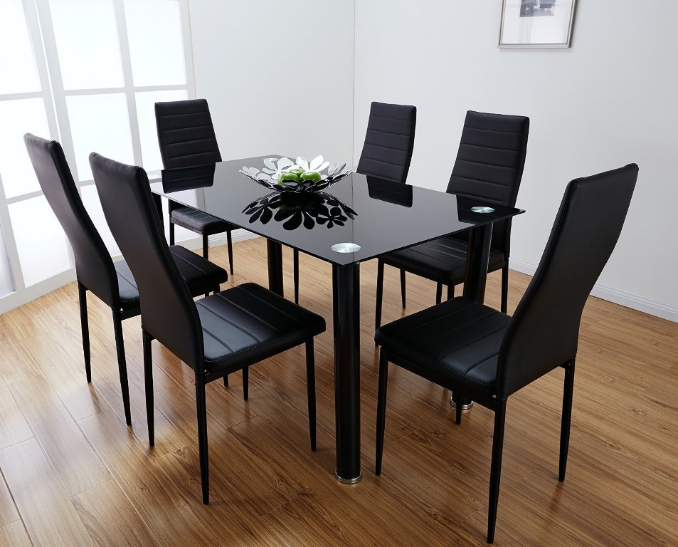 Image of: Glass Rectangular Dining Table 120cm