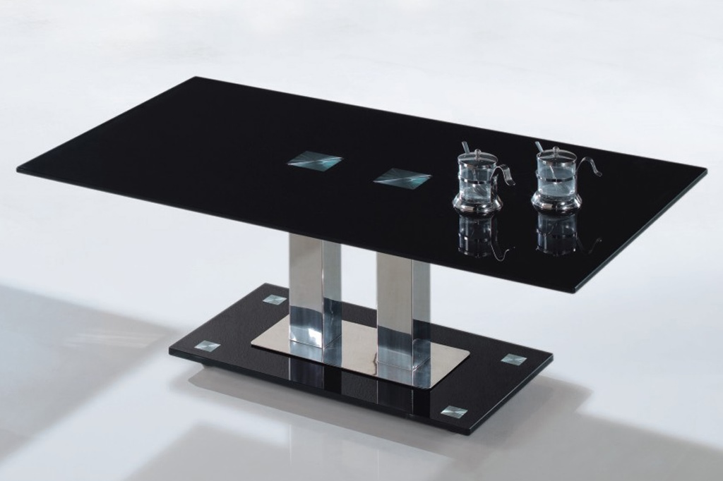 Image of: Glass and Metal End Tables Design