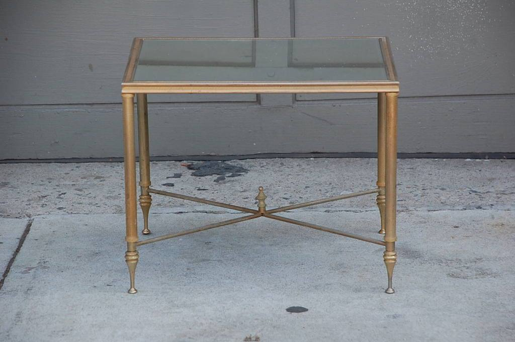 Image of: Gold and Glass Accent Table
