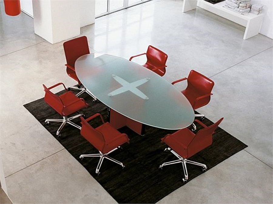 Image of: Images Of Oval Glass Conference Tables