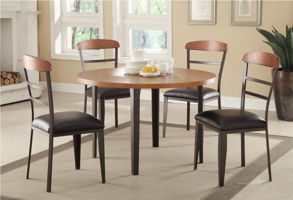 Image of: Kitchen Table Sets IKEA with Rolling Chairs