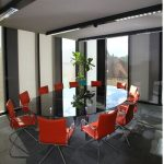 Large Oval Glass Conference Tables