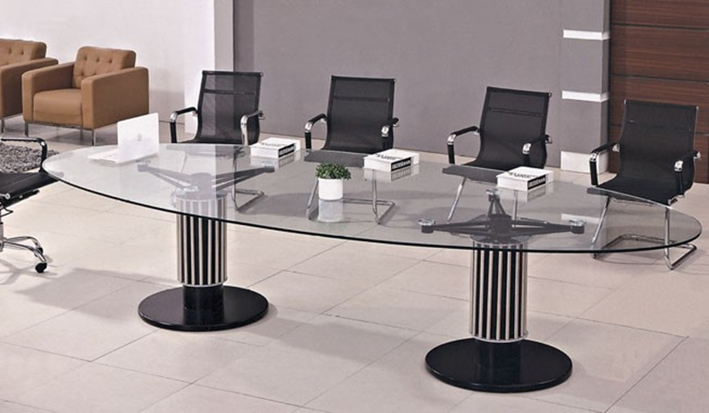Image of: Luxury Oval Glass Conference Tables