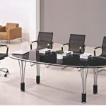 Modern Oval Glass Conference Tables