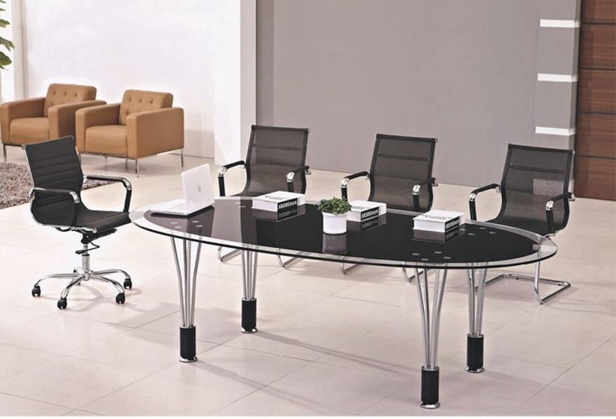 Image of: Modern Oval Glass Conference Tables