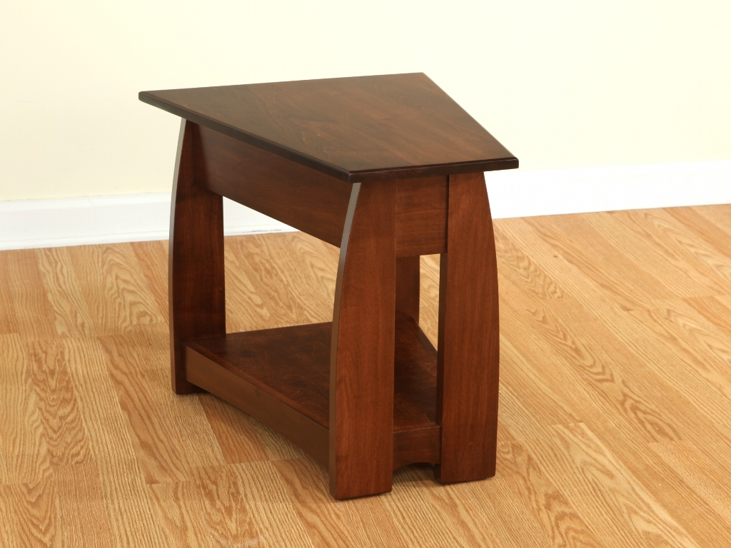 Picture of: Modern Wedge End Table