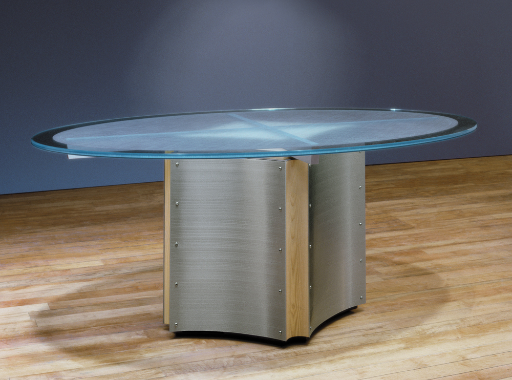 Image of: Oval Glass Conference Tables Designs