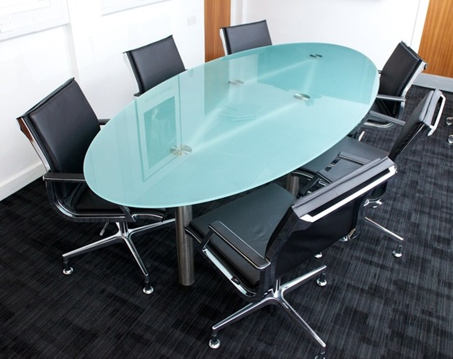 Image of: Popular Oval Glass Conference Tables