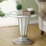 Silver And Glass Accent Table