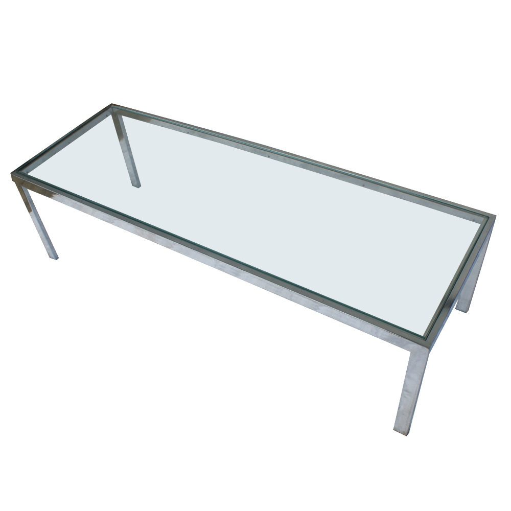 Picture of: Simple Modern Glass Coffee Table