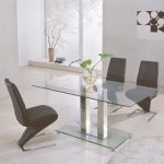 Smoked Glass and Chrome Dining Table