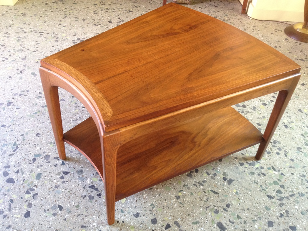 Image of: Unique Wedge End Table