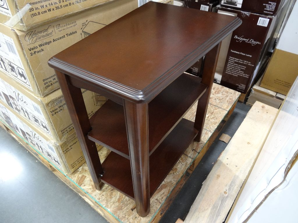 Wedge End Table Idea
