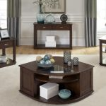Wedge End Table With Storage