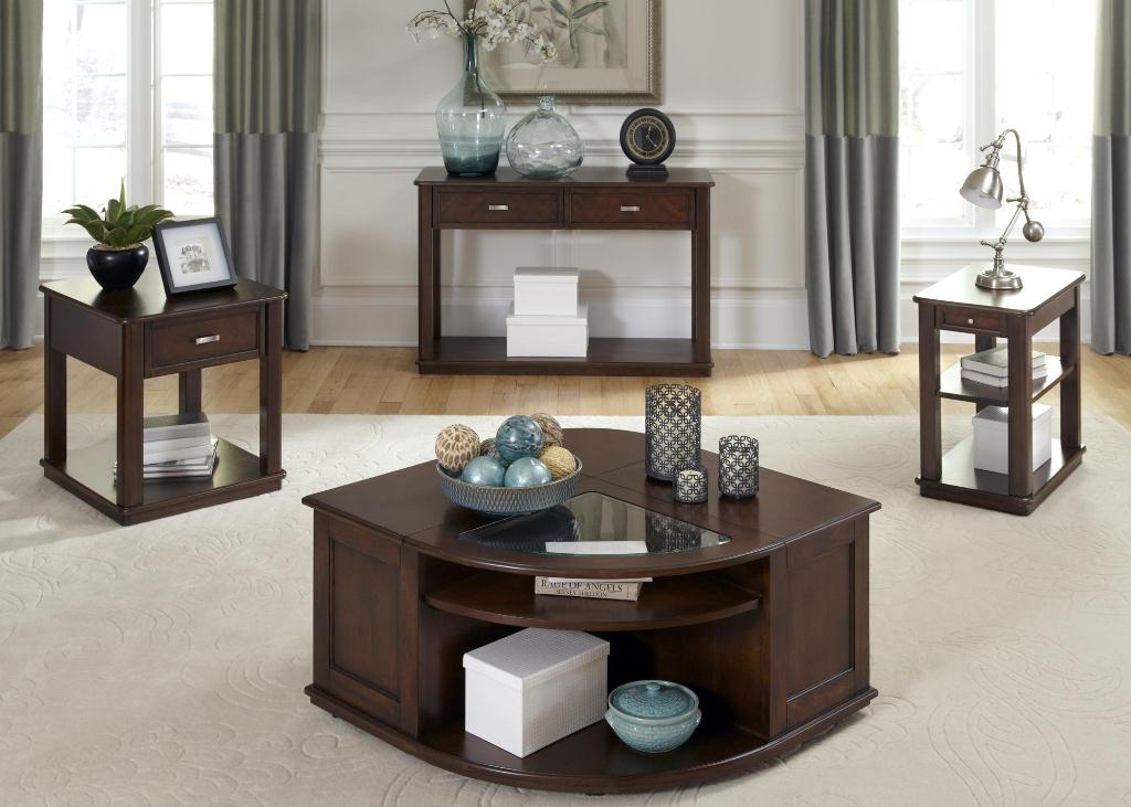Picture of: Wedge End Table with Storage