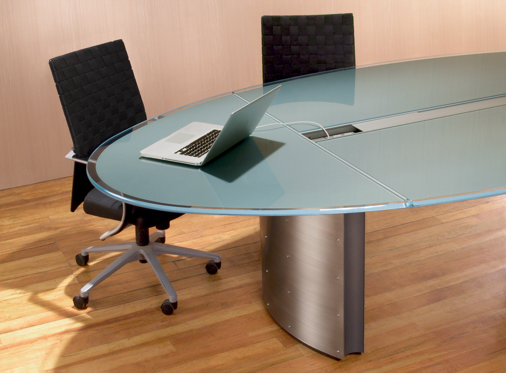 Image of: Wonderful Oval Glass Conference Tables