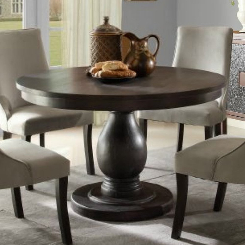 Picture of: black 42 round dining table