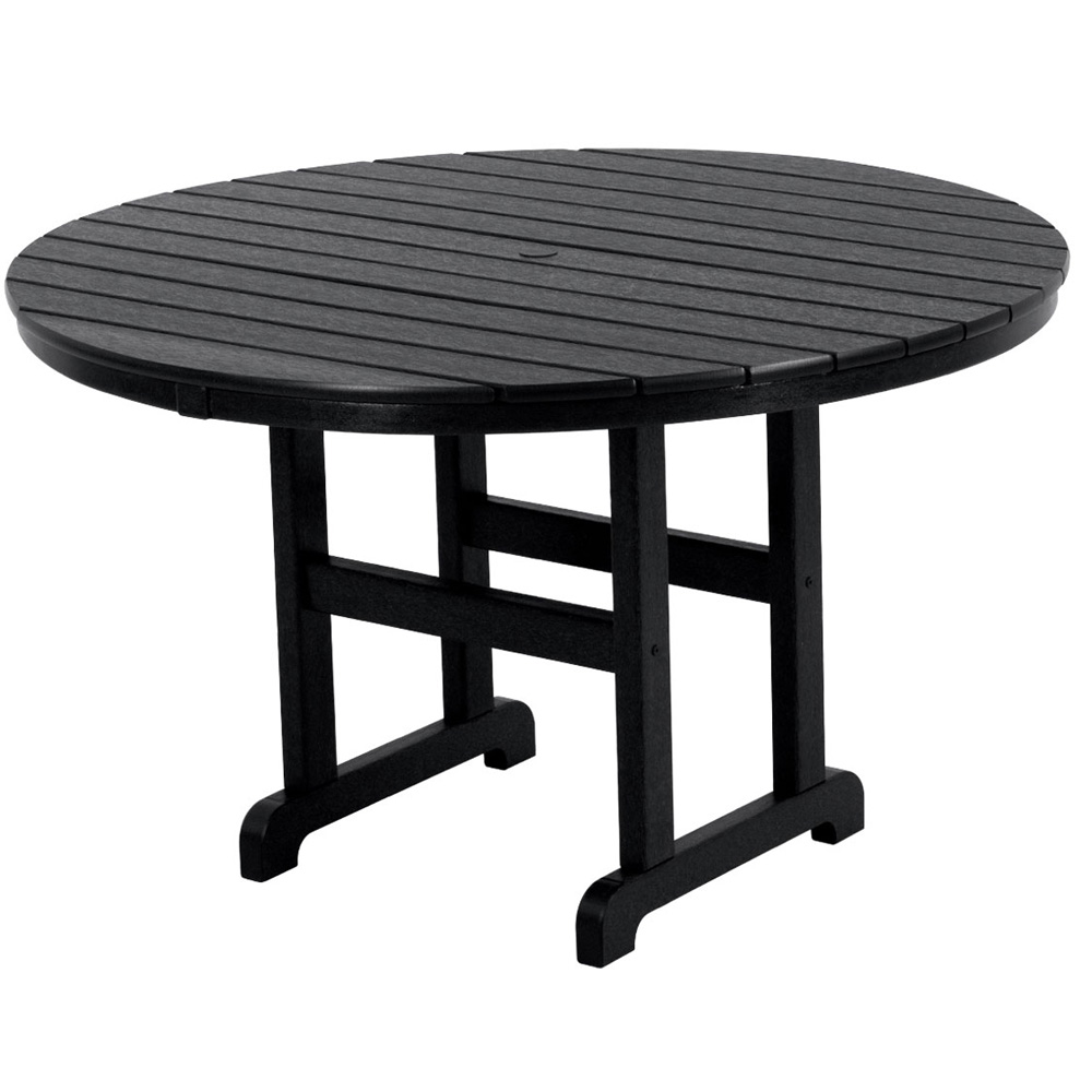 Picture of: black 48 inch round dining table